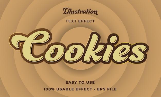 Efeito de texto de cookies