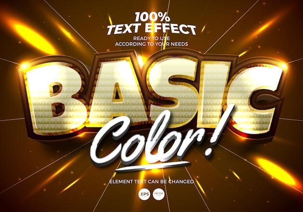 Efeito de texto de cor básica