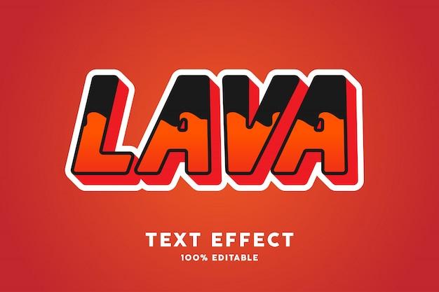 Efeito de texto de cor de lava
