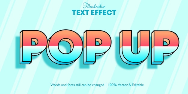 Efeito de texto de cor dupla pop-up 3d