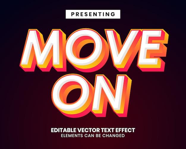 Efeito de texto de cor gradiente 3d com movimento na palavra