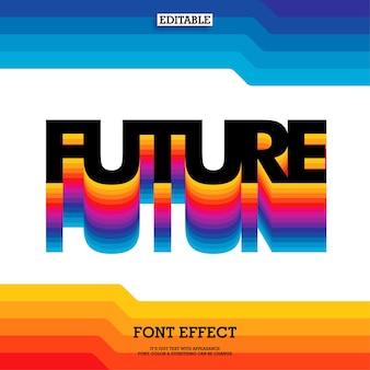 Efeito de texto de cor gradiente dos anos 80 com visual moderno e forte