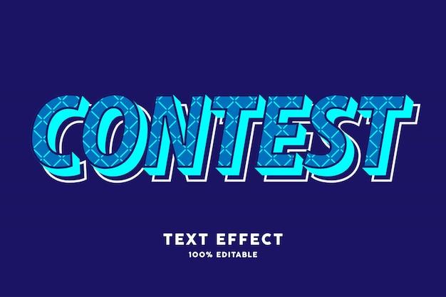 Efeito de texto de cor moderna em estilo pop em negrito azul