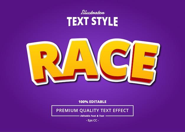Efeito de texto de corrida