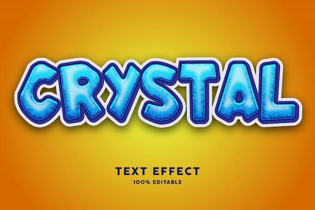 Efeito de texto de cristal azul