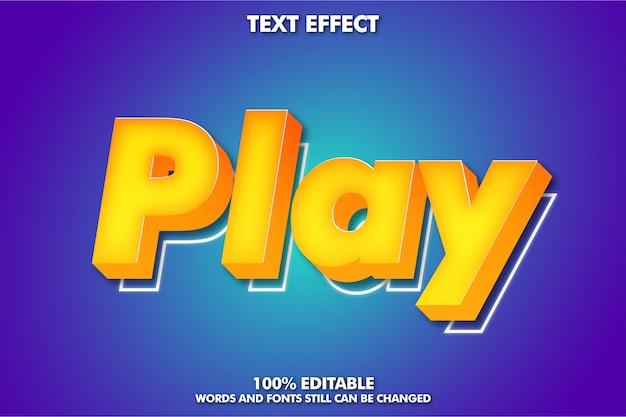 Efeito de texto de desenho animado em 3d