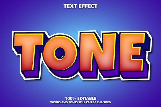 Efeito de texto de desenho animado moderno