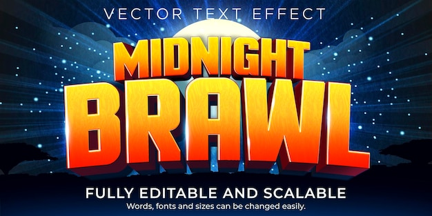 Efeito de texto de desenho animado para jogos; jogo editável e estilo de texto engraçado