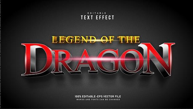 Efeito de texto de dragão vermelho