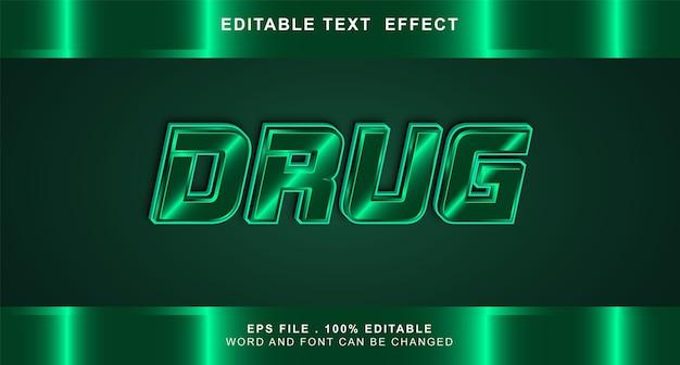 Efeito de texto de drogas editável