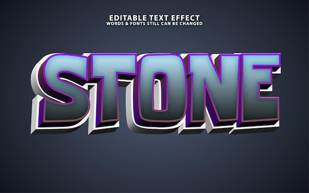 Efeito de texto de ector de pedra editável