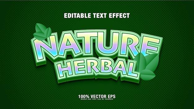 Efeito de texto de ervas verdes