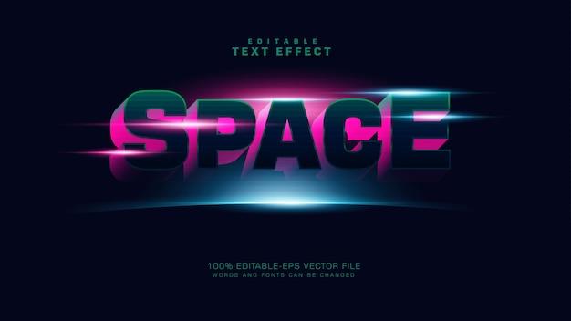 Efeito de texto de espaço 3d