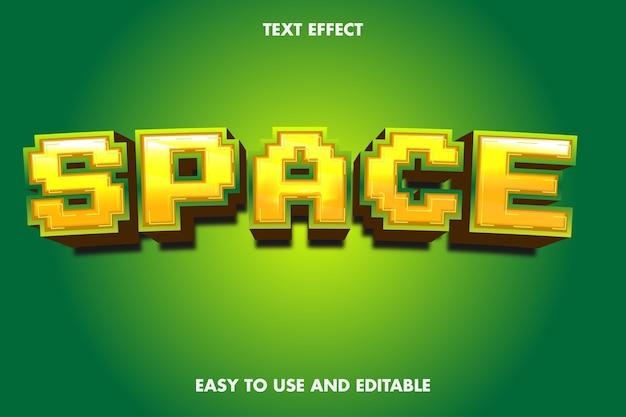 Efeito de texto de espaço. estilo de fonte editável.