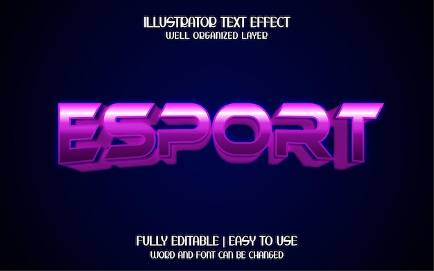 Efeito de texto de esporte 3d
