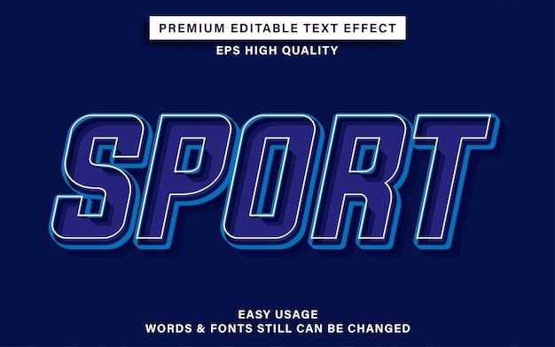 Efeito de texto de esporte