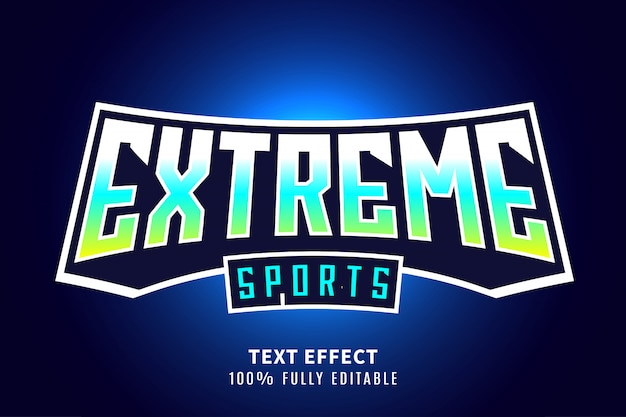 Efeito de texto de esportes radicais