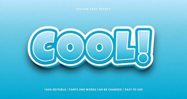 Efeito de texto de estilo colorido azul legal.