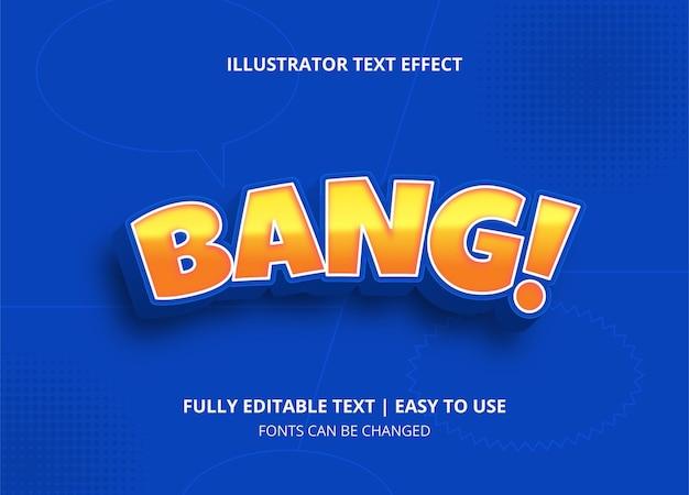 Efeito de texto de estilo cômico editável