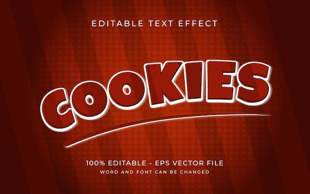 Efeito de texto de estilo de cookies com efeito de texto editável