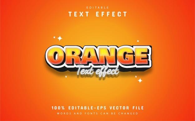 Efeito de texto de estilo editável em laranja
