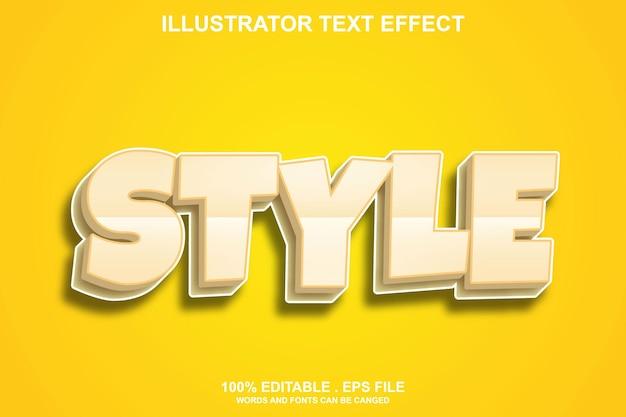 Efeito de texto de estilo editável