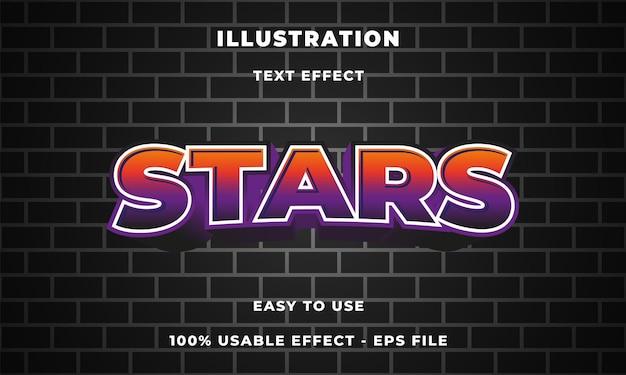 Efeito de texto de estrelas