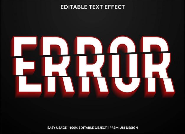Efeito de texto de falha
