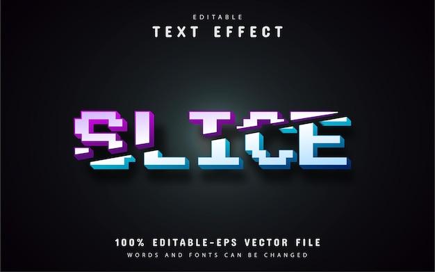 Efeito de texto de fatia de pixel editável