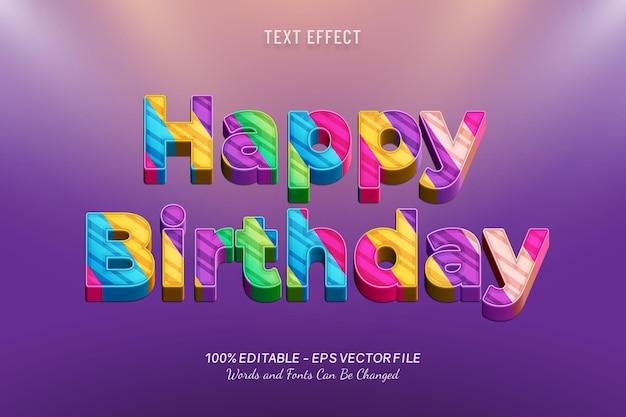 Efeito de texto de feliz aniversário