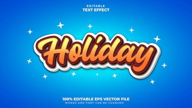 Efeito de texto de feriado