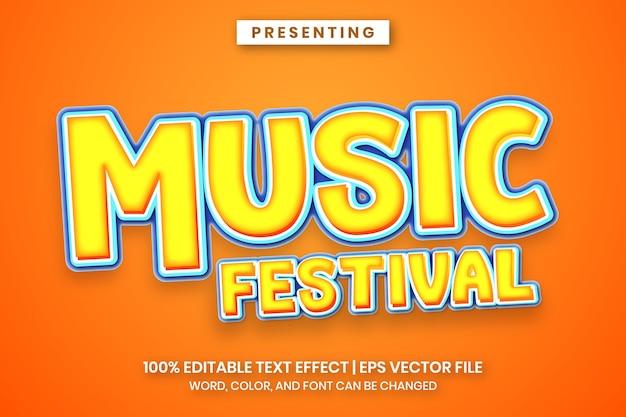Efeito de texto de festival de música