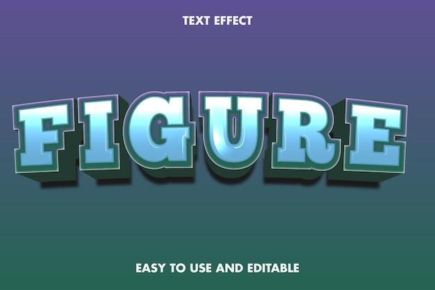 Efeito de texto de figura. editável e fácil de usar.