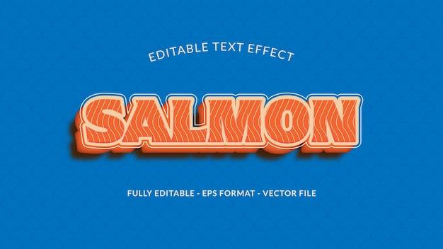 Efeito de texto de filé de salmão