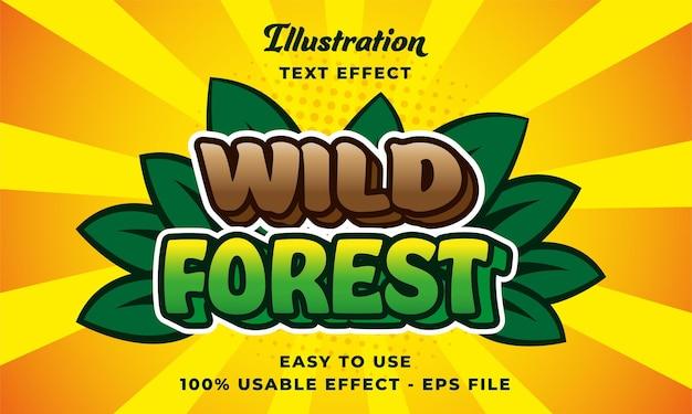 Efeito de texto de floresta selvagem