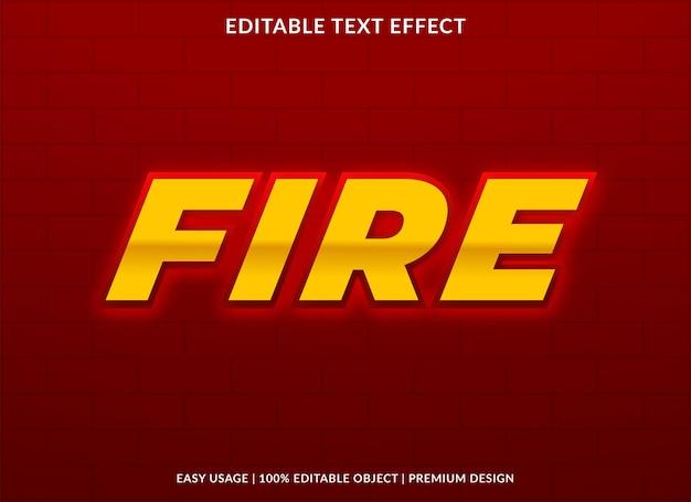 Efeito de texto de fogo com estilo ousado