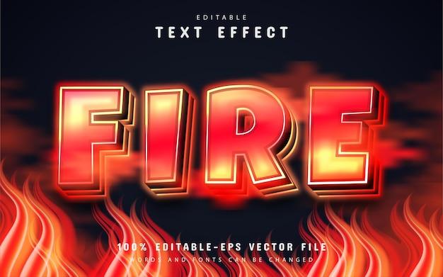 Efeito de texto de fogo editável