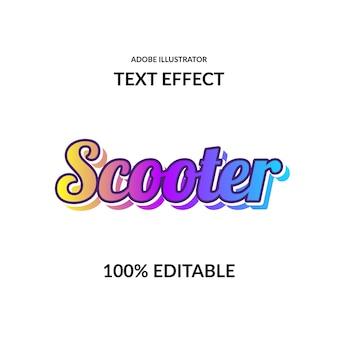 Efeito de texto de fonte de script de cores vivas gradiente moderno para moderno e futurista