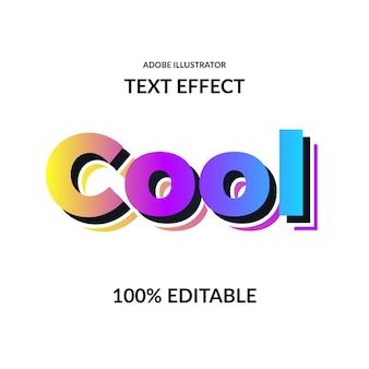 Efeito de texto de fonte forte de cores vivas gradiente moderno para moderno e futurista