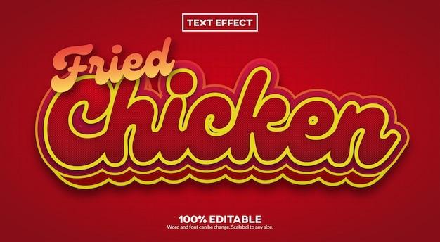 Efeito de texto de frango frito