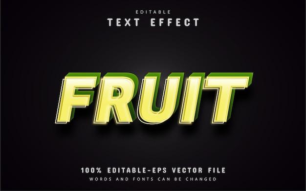 Efeito de texto de fruta editável