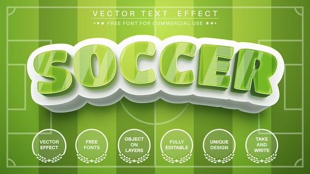 Efeito de texto de futebol 3d