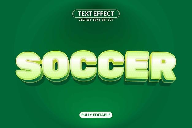 Efeito de texto de futebol Vetor Premium