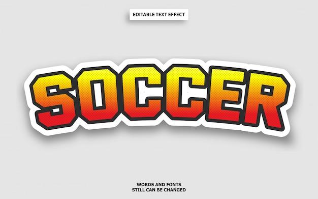 Efeito de texto de futebol