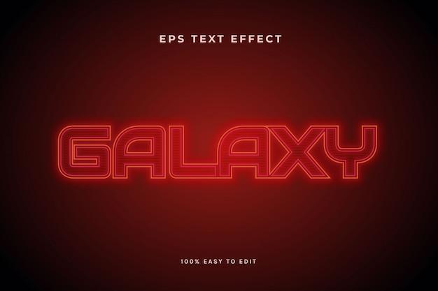 Efeito de texto de galáxia vermelha