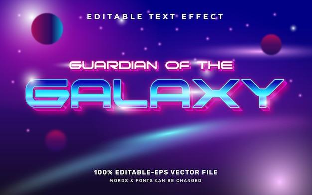 Efeito de texto de galáxia