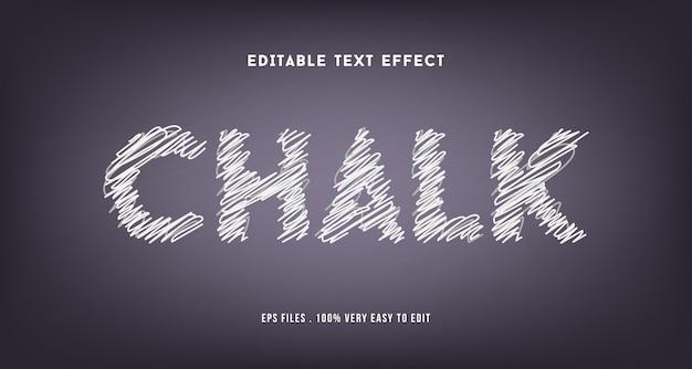 Efeito de texto de giz premium, texto editável