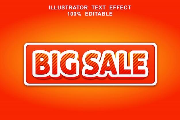 Efeito de texto de grande venda editável