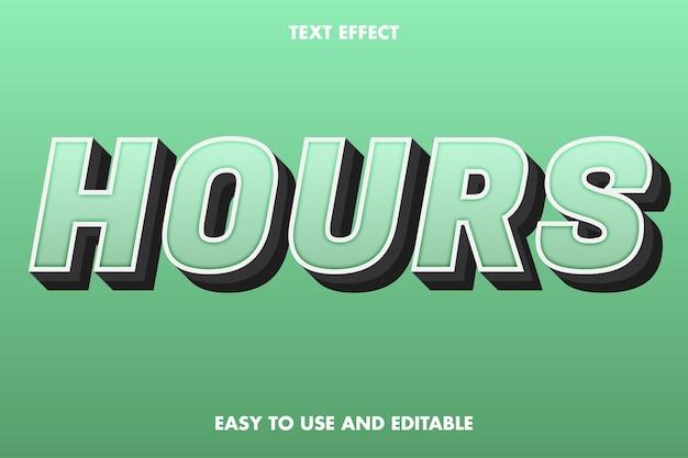 Efeito de texto de horas fácil de usar e editável