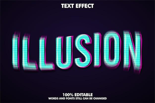 Efeito de texto de ilusão de estilo de texto moderno